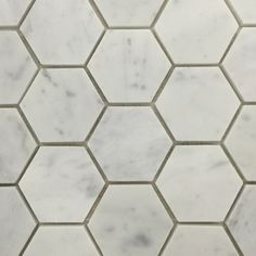 70mm Carrara Hexagonal Mosaics  http://www.surfacegallery.com.au/tiles/mosaic-tiles/marble-mosaics #marblemosaics #hexagonalmosaics #carraramarble #carrarahexagonalmosaics http://www.surfacegallery.com.au/tiles/mosaic-tiles/marble-mosaics