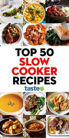 The cooler weather calls for fragrant curries, succulent braises and meat so tender you could eat it with a spoon. Warm your soul with our top 50 slow cooker recipes. Slow Cooker Pasta, Crock Pot Slow Cooker, Crock Pot Cooking, Easy Casserole Recipes, Crockpot Recipes, Cooking Recipes, Easy Family Meals, Quick Meals, Slow Cooker Recipes Australia