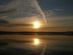 sailing sunrise in the Pacific Northwest
