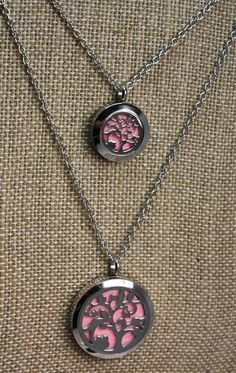 Mommy and Me Essential Oil Diffuser Necklaces- Aromatherapy Necklaces- Stainless Steel Aromatherapy Necklaces- Tree Diffuser Necklaces- Two Essential