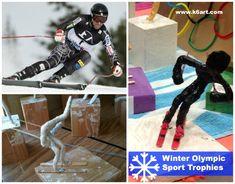 ski racing olympic trophy