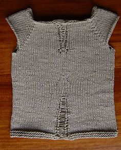 shaped ribbon tee (Now with Tutorial) - KNITTING