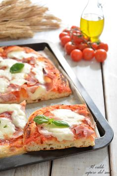 Focaccia Pizza, Pizza Chiena, Crispy Pizza, Love Pizza, Pizza Recipes, Vegetable Pizza, Italian Recipes, Food And Drink, Healthy Eating