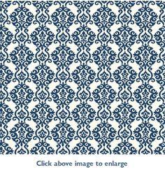 Luminary (Denim Blue) Wallpaper in Waverly Cottage
