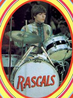 Dino Danelli of the Rascals. A very influential but underrated (is that even possible?) drummer of the 1960s. Dig that he was doing the small tom on a snare stand thing way back when! (And he was a Ludwig guy, too.)
