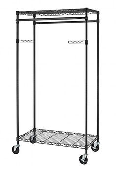 when closet space runs out the supreme garment rack will handle the overflow this heavyduty steel garment rack with chrome finish holds garments and