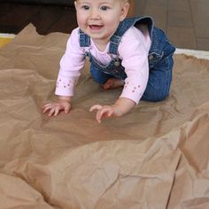 sensory activity for your rolling/crawling or even walking baby… texture and noise