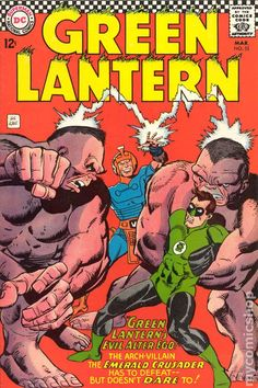 "This is our collection of cover art images by Gil Kane. If you find an image in the database that is not shown here, please edit that image adding ""Gil Kane"" as an image cover artist. (usage help) See Also: A list of cover art by Gil Kane Green Lantern Power Ring, Green Lantern Green Arrow, Green Lantern Comics, Green Lantern Hal Jordan, Vintage Comic Books, Marvel Comic Books, Vintage Comics, Comic Books Art, Book Art"