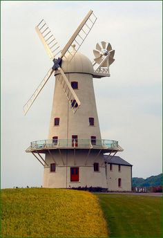 Llancayo Windmill in Monmouthshire, Wales