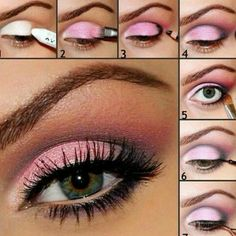 Gorgeous sultry pink. We couldn't find the author for this tutorial but Thanks for the fabulous guide