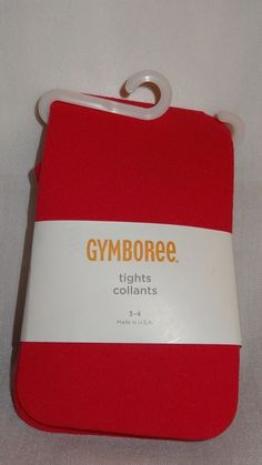New Gymboree Girl Pink Tights 3-4 years Solid Color #Gymboree #Tights