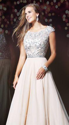 Chiffon Appliques Prom Dress