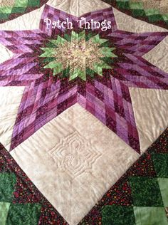 Lone Star (3) Lone Star Quilt Pattern, Star Quilt Patterns, Star Quilts, Stitch Patterns, Crochet Patterns, Longarm Quilting, Free Motion Quilting, Quilting Ideas, Mandala Yarn