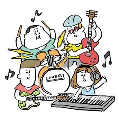 小山健イラスト Music Illustration, Japanese Illustration, People Illustration, Photo Illustration, Graphic Design Illustration, Doodle Drawings, Cartoon Drawings, Japan Graphic Design, Layout