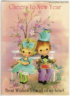 Vintage Happy New Year Wishes | vintage new year graphics, cards, scraps for Orkut, Myspace, Facebook ...