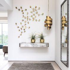 Une entrée en or et argent   #entry #foyer