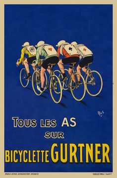 Vintage cycling poster