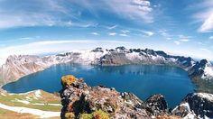 Lago Heaven, Montaña Baekdu, en China y Corea del Norte.