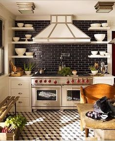 I like the tiles and the shelves that show off your pretty dishes!