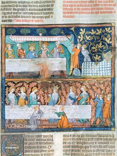 Yooniq images - Royal banquet, miniature from Guyart des Moulins and Peter Comestor's Bible, manuscript, end 13th Century-beginning 14th Century.