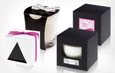 luxurious candle Korona - Candle in glass in a gift box