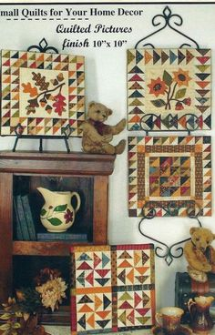 Quilted Pictures #2 Quilt Pattern by Lori Smith #FROMMYHEARTTOYOURHANDS