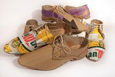 Creative Shoes Made From Recycled Beer Packaging [Pics] @Team PSFK