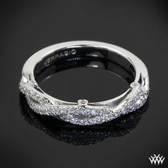 18k White Gold Verragio Braided Diamond Wedding Ring
