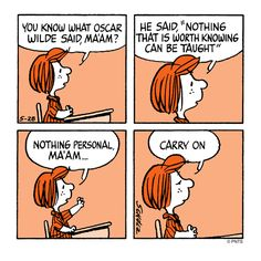 Class with Peppermint Patty.