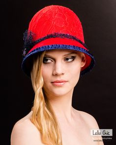 SUNDAY IN HARLEM couture cloche by LALLU CHIC COUTURE MILLINERY