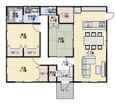 25坪3LDKの夫婦で住む平屋の間取り | 平屋間取り
