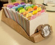 Fun with Paint Swatch Cards: Rolodex/Recipe Separators