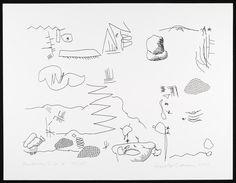 Dibujo generado por el programa de ordenador AARON Amsterdam Suite B | Cohen, Harold | V Search the Collections
