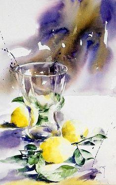 Just lemons… #watercolorarts