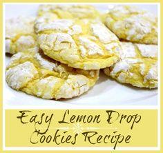Easy Lemon Cookies recipe!  (cakebox cookies)