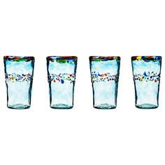 Look what I found at UncommonGoods: recycled verano glassware - set of 4...