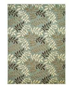Take a look at this Blue Leaf Rug by Concord Global Trading, Inc. on #zulily today!