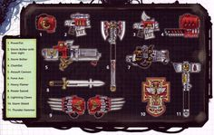 Terminator Armaments (from Space Hulk).