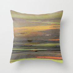 Throw Pillow, Hawaiian Art, Rainbow Tree Bark, Eucalyptus, Beach House Decor, Green, Orange, Gray, Cover Only, 16x16, 18x18, 20x20
