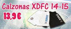 Calzonas del Xerez Deportivo FC 14-15. Disponible tanto en la oficina del club (edificio Jerez 2002) como en el punto de venta Brokal (polígono Bertola, nave 16).