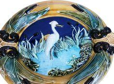 Majolica Heron Wall Platter - Majolica Dream - Brands  One Kings Lane #Wall#Platter#Majolica