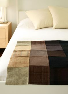 Love this! I have been collecting my own wool (thrifted skirts/pants) to felt and make into a quilt similar to this.