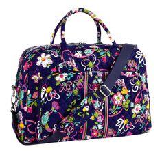 301aa1fd87 Vera Bradley Weekender Bag in Ribbons. Vera Bradley Weekender Bag