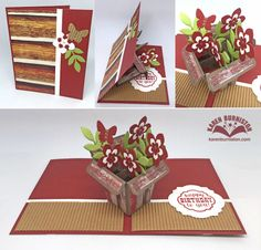 Karen Burniston using the Pop it Ups Flower Pot Pop Stand, Labels & Circles and Occasions Clear Stamps by Karen Burniston for Elizabeth Craft Designs.