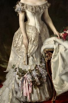 warpaintpeggy:  INCREDIBLE DRESSES IN ART (62/∞)Queen Natalije by Vlaho Bukovac, 1882