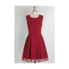 Mid-length Sleeveless A-line Maraschino Cheery Dress ($32) ❤ liked on Polyvore