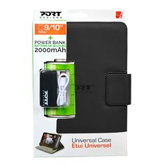 "#Funda Universal para Tablet 10.1"" + PowerBank Port Designs 500282 Negro.  http://www.opirata.com/es/funda-universal-para-tablet-powerbank-port-designs-500282-negro-p-36937.html"