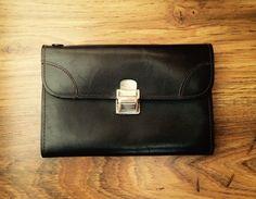 wristlet vintage wrist bag genuine leather