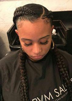 Two Braids Hairstyle Black Women, Lil Girl Hairstyles, Cute Braided Hairstyles, Plaits Hairstyles, Natural Hairstyles For Kids, Black Girl Braids, Braids For Black Women, Braids For Black Hair, Girls Braids
