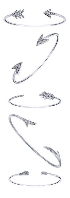 Celebrate Mother's Day by commemorating the one you love with a delicate Gabriel & Co. silver byblos cuff bangle!